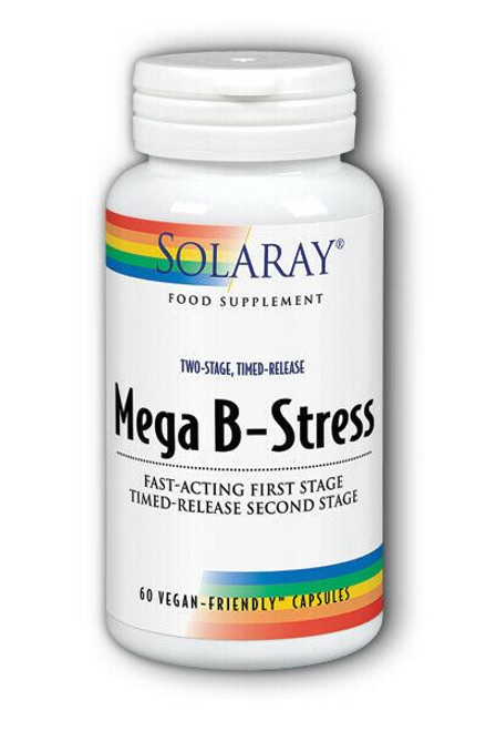 Mega B-Stress 60 Capsules two stage, time release Solaray