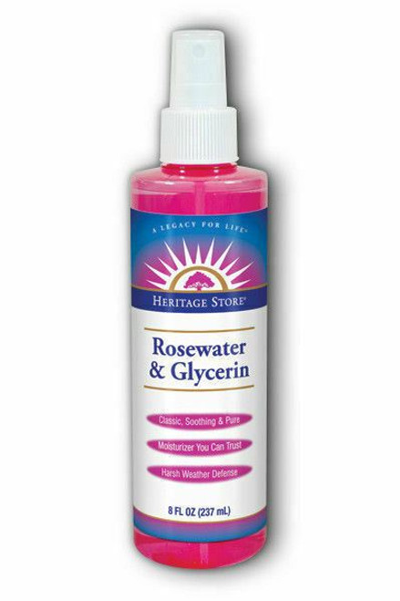 Rosewater & Glycerin With Atomizer Spray Rose 240ml Heritage Store