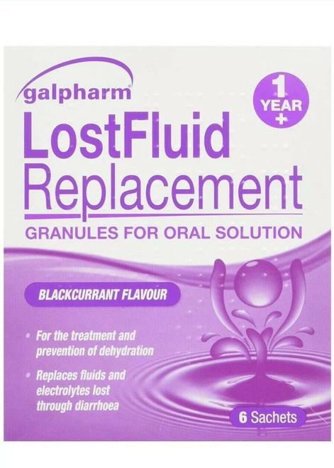 6 Sachets Lost  Fluid Sachets Blackcurrant Dehydration Electrolyte For Diarrhoea