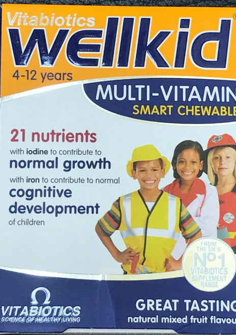 Wellkid multi vitamin smart chewable 4 to 12 years 21 nutrients Tablets