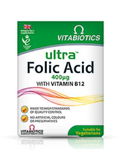 Folic Acid (With Vitamin B12) 60 tablets