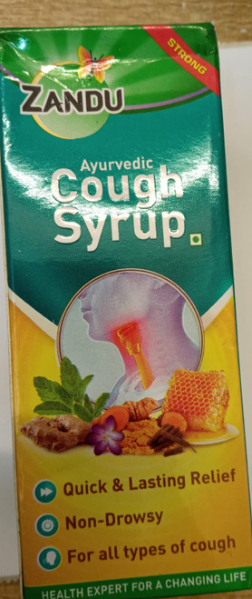 Zandu Ayurvedic Cough Syrup Gives relief from Throat Congestion