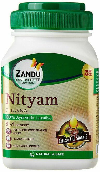 Nityam churna 100gm castor oil bowel care overnight relief no abdominal cramps