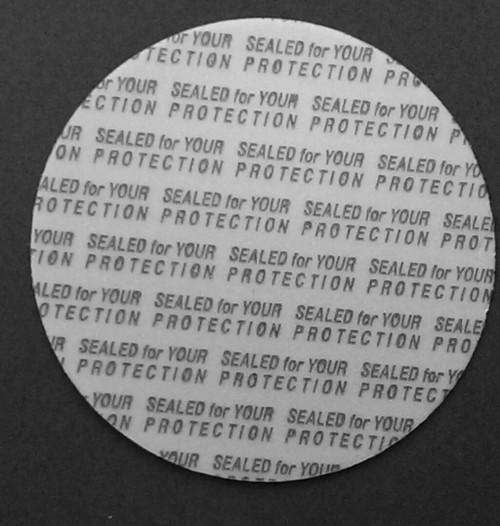 45mm Pressure Sensitive Foam Liner Safety Tamper Seals for Jar Lid 100