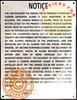 Carbon monoxide detector notice
