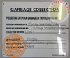 HPD HPD NYC Garbage Collection SIGN