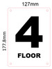 HPD NYC 4TH FLOOR SIGN - FLOOR NUMBER FOUR SIGN