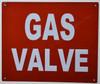 Gas Valve FIRE DEPT SIGNAGE
