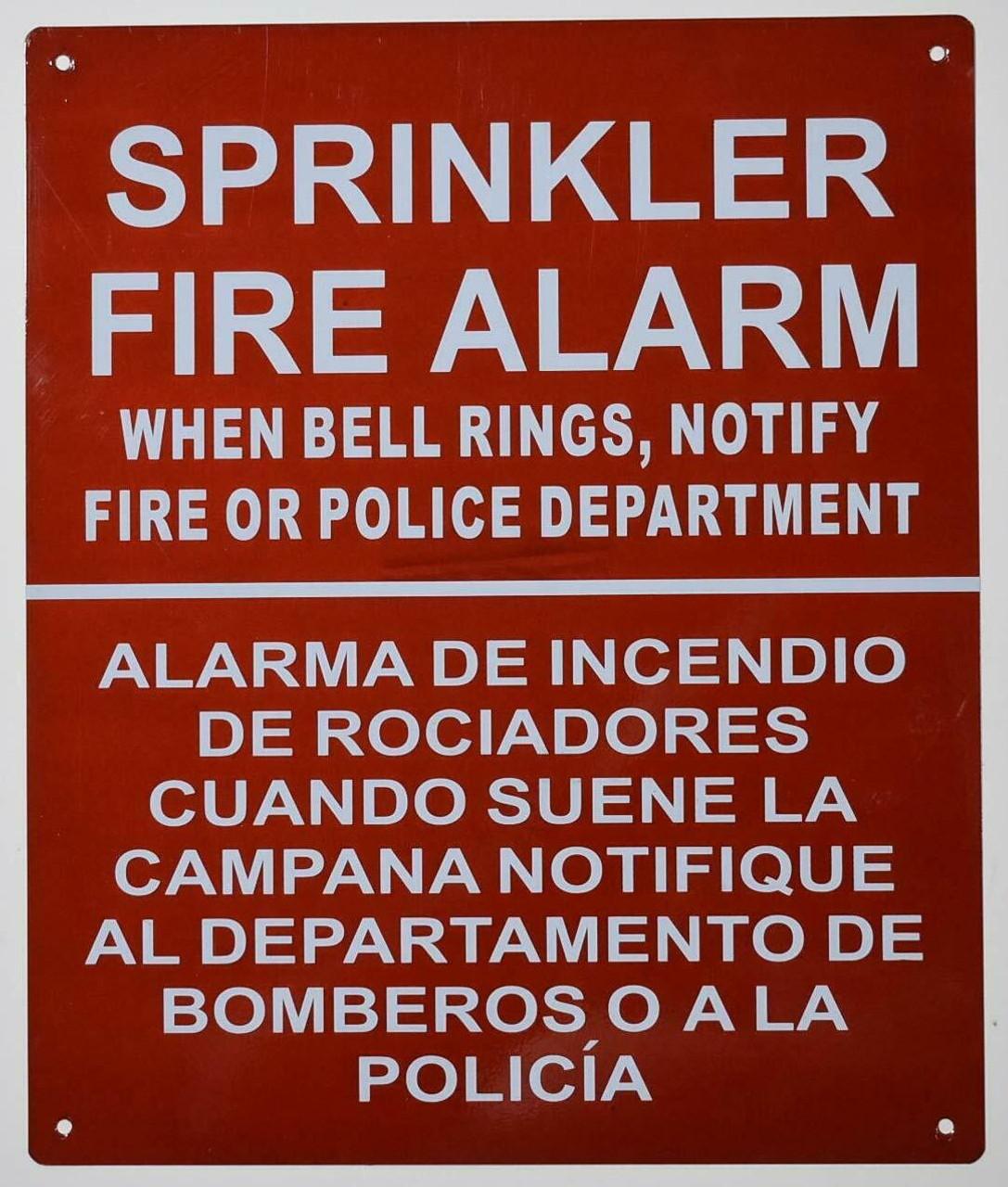 Sprinkler FIRE Alarm When Bell Rings