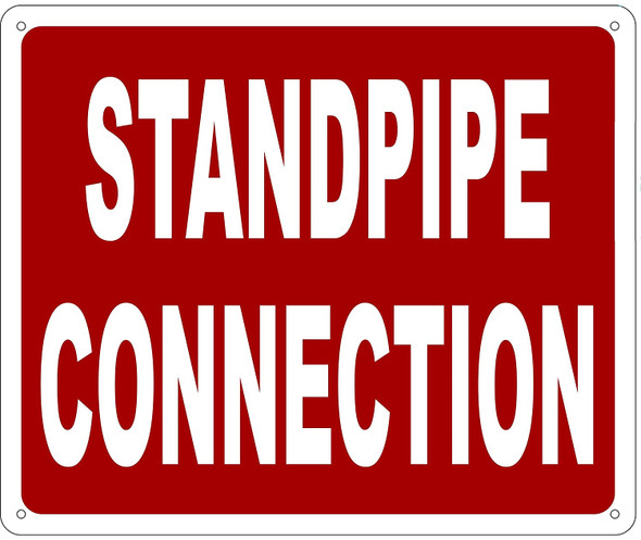 STANDPIPE CONNECTION SIGN