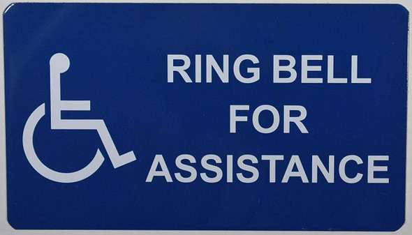 Please Ring Bell for Assistance Signs