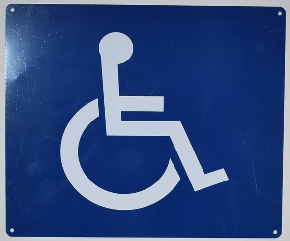 ADA-Wheelchair Accessible Guide Sign -The Pour Tous Blue LINE -Tactile Signs  Ada sign