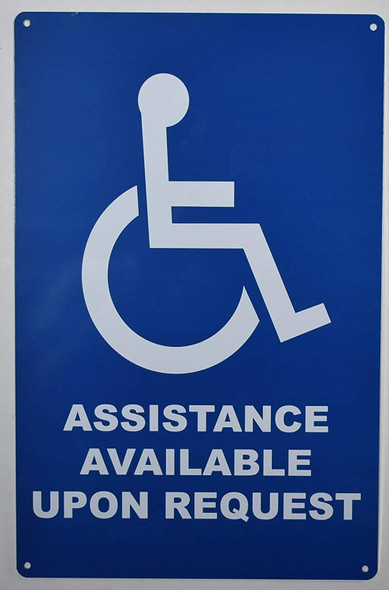 SIGN Assistance Available Upon Request -The Pour Tous Blue LINE