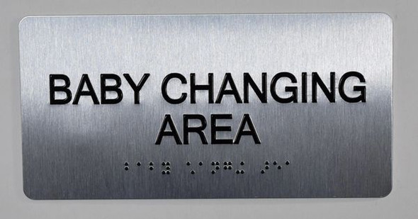 Baby Changing Area Sign ADA -Floor Number Tactile Touch Braille Sign