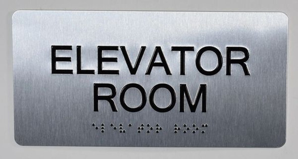 Elevator Room Sign -Tactile Touch Braille Sign - The Sensation line -Tactile Signs  Ada sign