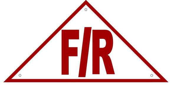 State Truss Construction Sign-F/R Triangular