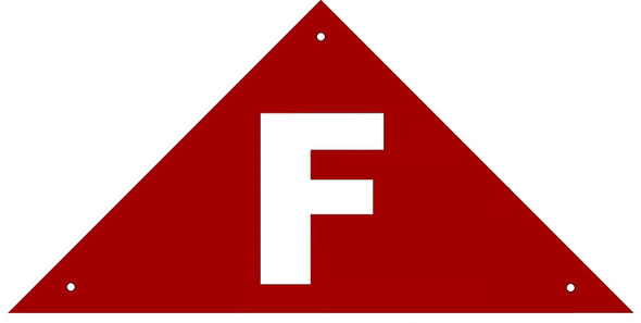 State Truss Construction Sign-F RED