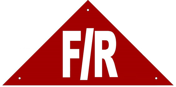 State Truss Construction Sign-F/R RED,
