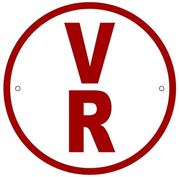 V-R Floor Truss Circular Sign-New York Truss Construction Sign