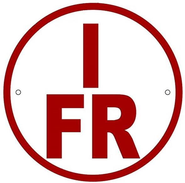 I-FR Floor Truss Circular Sign - New York Truss Construction Sign
