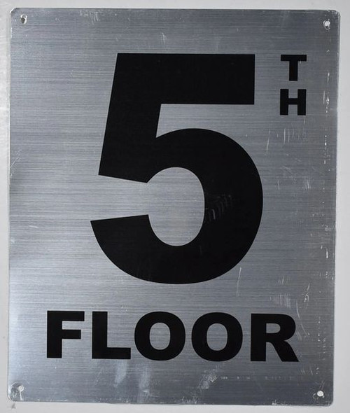 5TH Floor Sign -Tactile Signs Tactile Signs  Floor Number Sign -Tactile Signs Tactile Signs  Tactile Touch Braille Sign - The Sensation line Ada sign