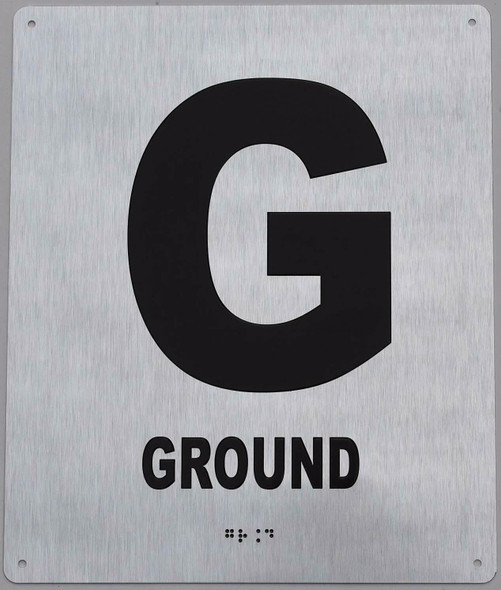 Ground Floor Sign -Tactile Signs Tactile Signs  Floor Number Sign -Tactile Signs Tactile Signs  Tactile Touch Braille Sign - The Sensation line Ada sign