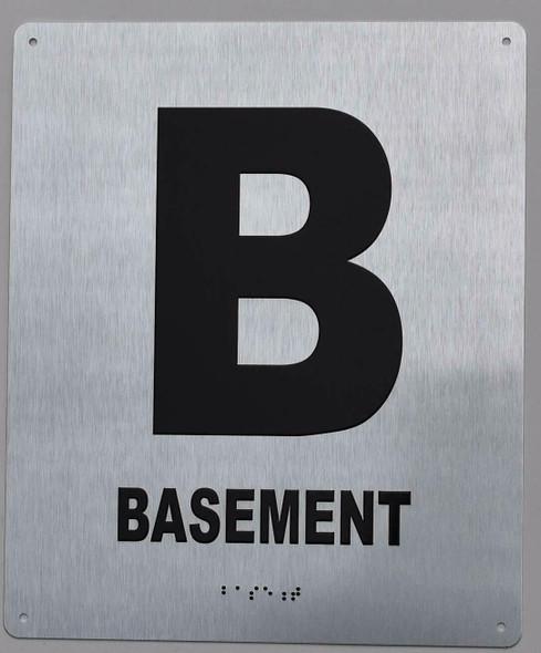 Basement Floor Number Sign -Tactile Signs Tactile Signs  Tactile Touch Braille Sign - The Sensation line Ada sign