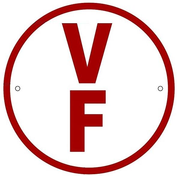 V F Floor Truss Circular Sign