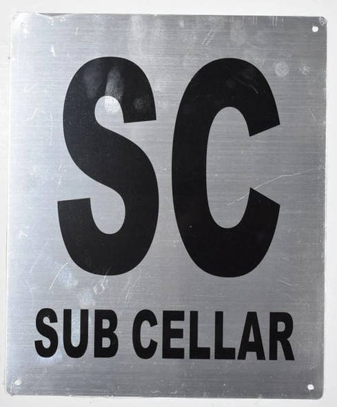 SUB Cellar Sign Silver - Tactile Touch Braille Sign