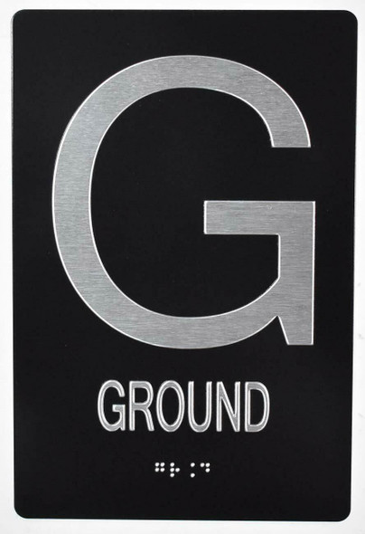 Ground Floor Sign -Tactile Signs  ADA Sign.  -Tactile Signs  The Sensation line Ada sign