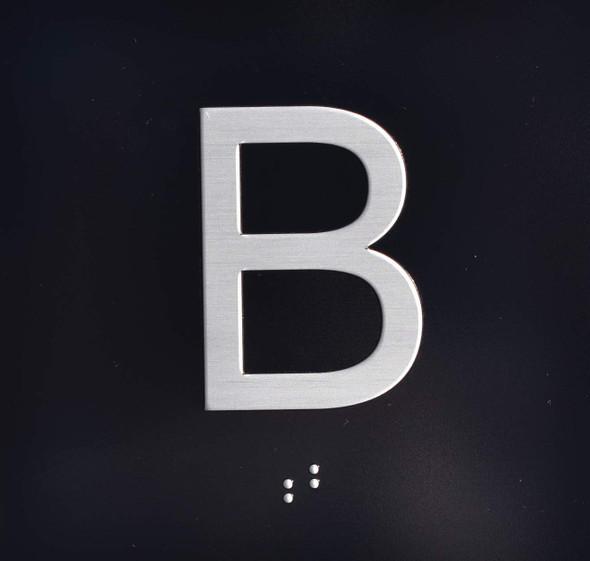 B Elevator Jamb Plate Sign Basement
