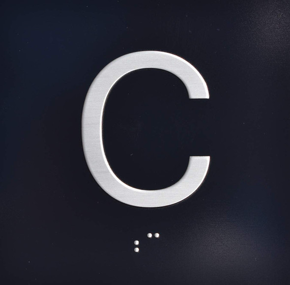 C Elevator Jamb Plate Sign Cellar