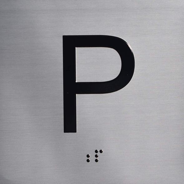 P Floor Elevator Jamb Plate Sign
