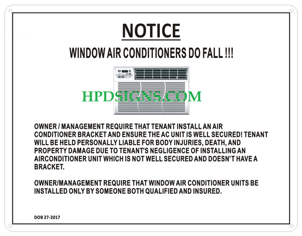 Window AIR CONDITIONERS Sign