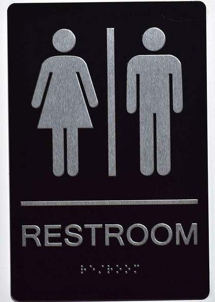 Unisex ACCESSIBLE Restroom Sign -Tactile Signs  The Sensation line Ada sign
