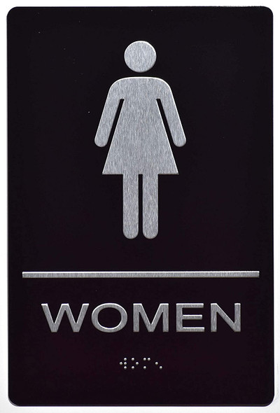 Women Restroom - The Sensation line -Tactile Signs  Ada sign