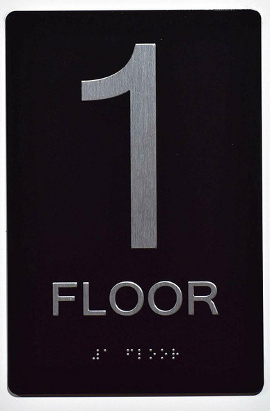 Floor Number Sign -Tactile Signs 1ST Floor Tactile  Sign The Sensation line Ada sign