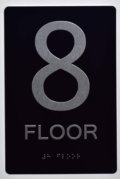Floor Number Sign -8TH Floor Sign