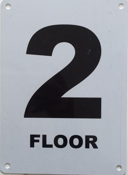 NYC HPD FLOOR NUMBER 2 SIGN - 2ND FLOOR SIGN