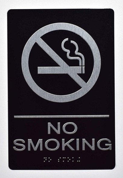 NO Smoking Sign Black