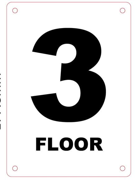 FLOOR NUMBER THREE SIGN