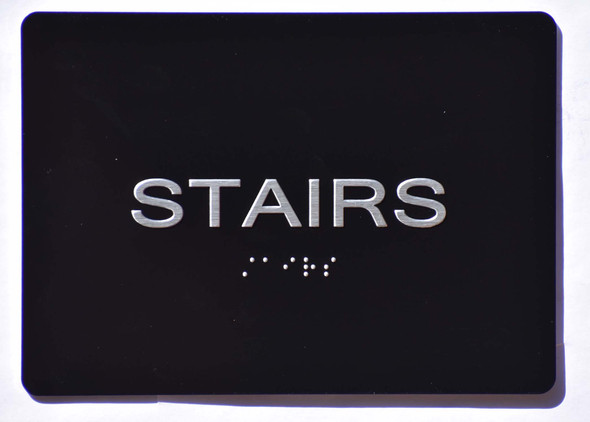 Stairs  Black (Aluminium, Black/Silver) The Sensation line Ada Sign