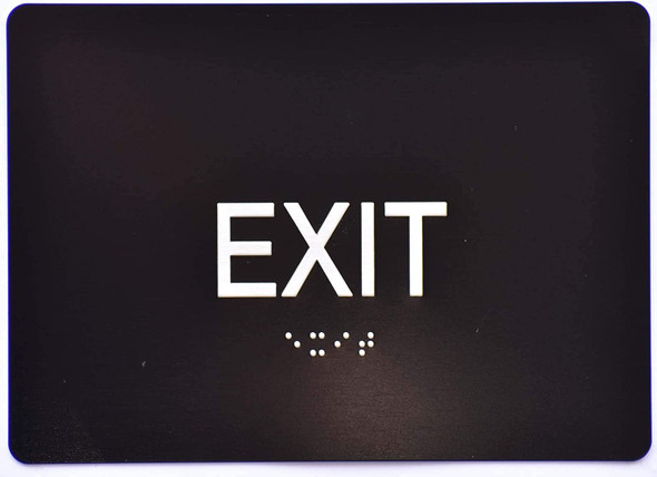 EXIT Sign   The Sensation line -Tactile Signs  Ada sign