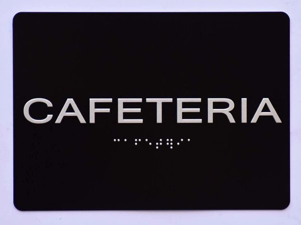 Cafeteria Sign   The Sensation line -Tactile Signs  Ada sign