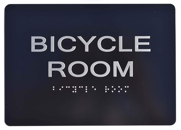 Bicycle Room Sign Black