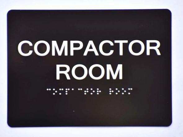 ada Compactor Room Sign Black