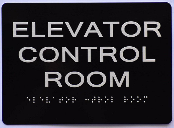 Elevator Control Room Sign   The Sensation line -Tactile Signs  Ada sign