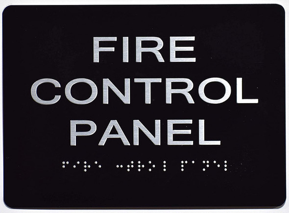 FIRE Control Panel Sign   The Sensation line -Tactile Signs  Ada sign