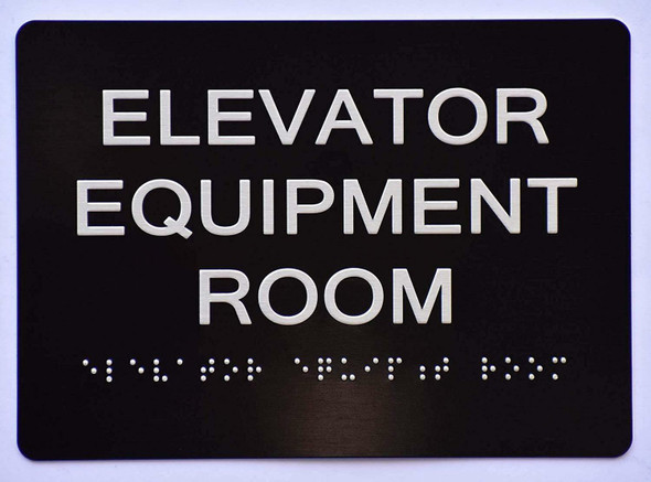 Elevator Equipment Room   The Sensation line -Tactile Signs  Ada sign