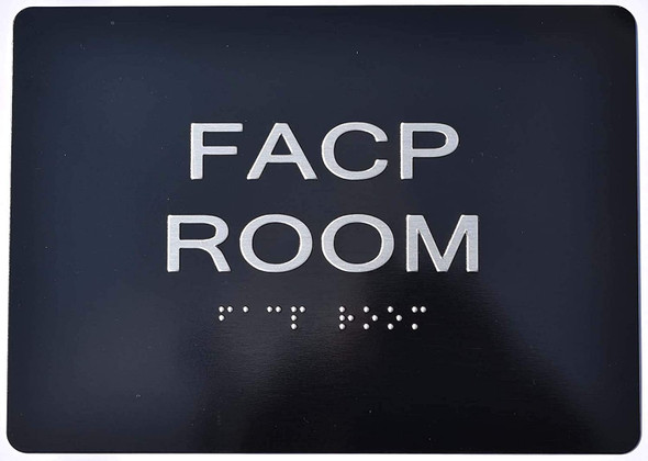 FACP Room Sign -Tactile Signs    The Sensation line Ada sign